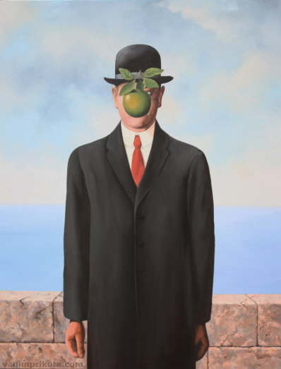 Rene Magritte - The Son of Man. Oil on canvas.